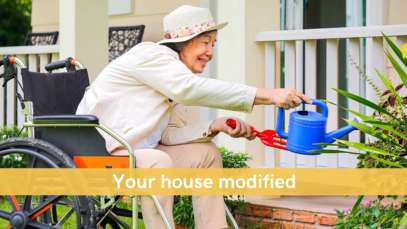 senior lady home gardening Aging in place