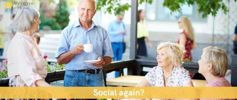 seniors socialising during COVID-19