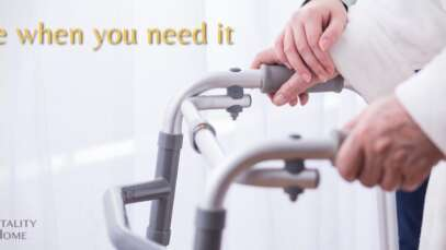 carer with person on walking frame - emergency home care